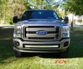 "2011-16 Ford F250 F350 40"" Curved LED Light Bar Installation"