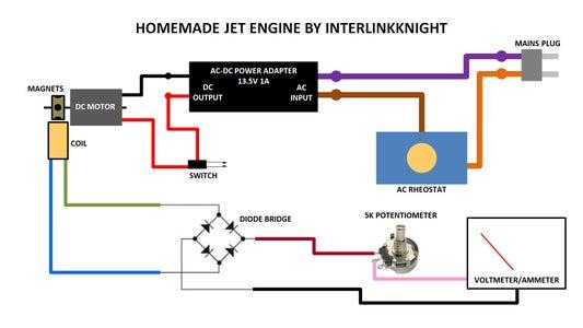Electric Working Jet Engine Model