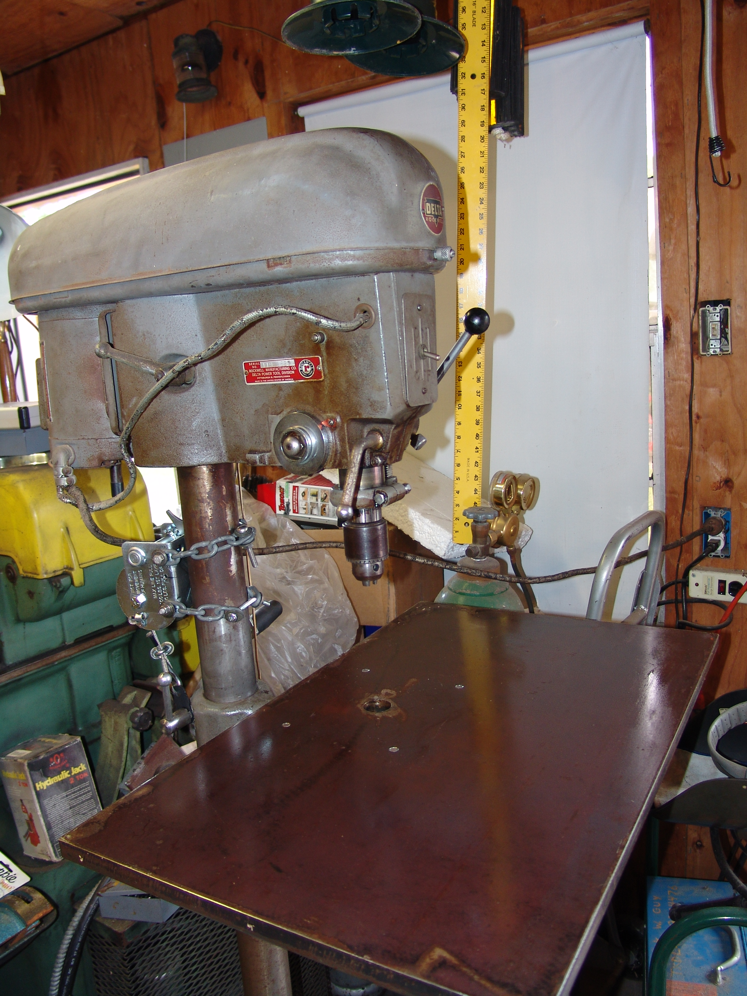 Picture of Mount the New Drill Press Table to the Factory Table