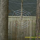 Beaded Spider Web Garden Art