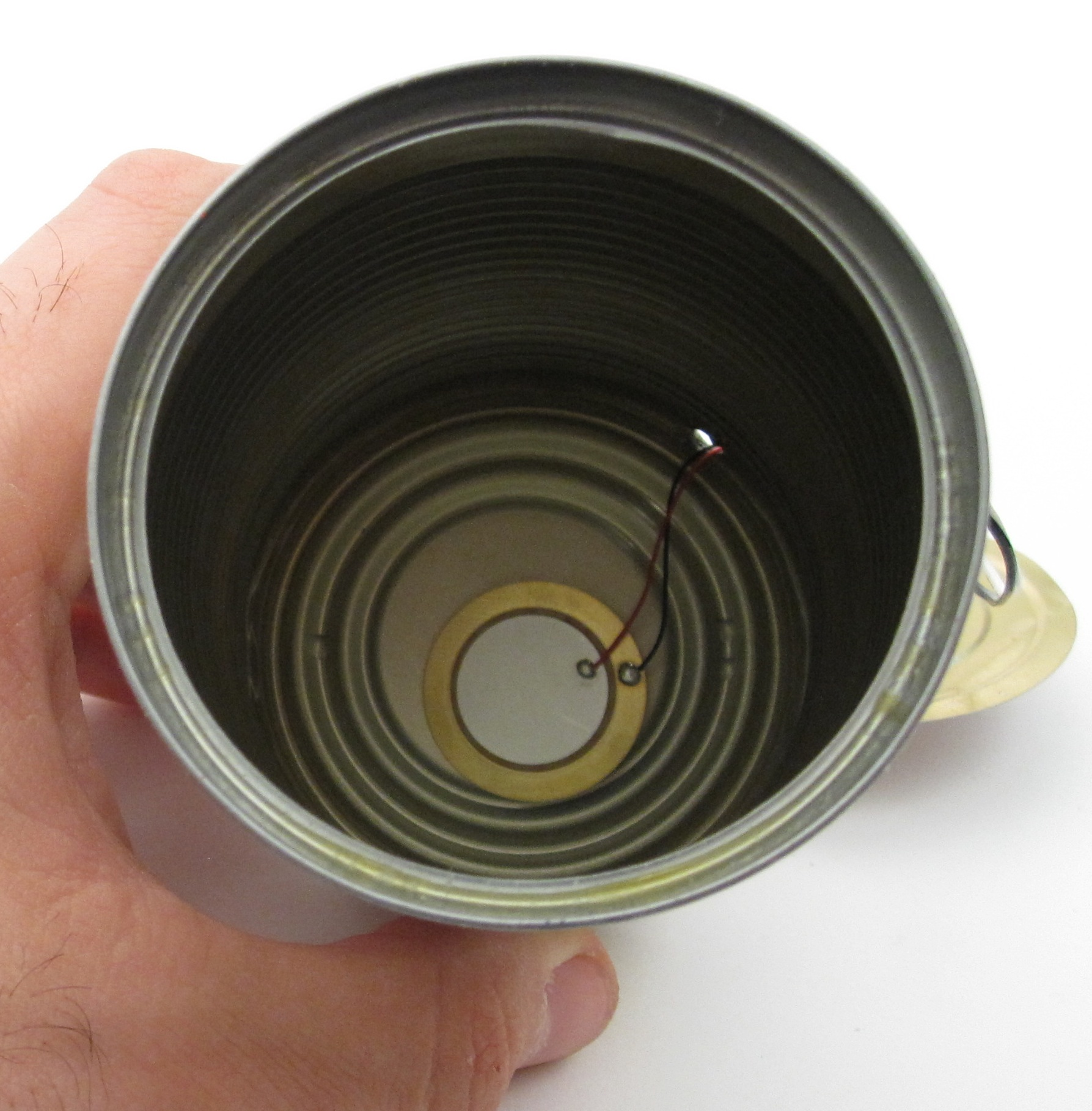 Picture of Tape Piezo Inside the Can