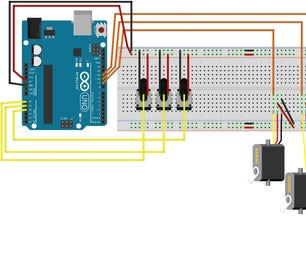 Controlling 3 Servo Motors With 3 Potentiometers and an Arduino