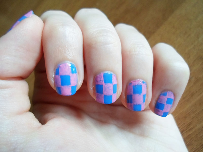 Picture of Checks Nail Art