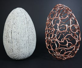 Make an Egg-xtraordinary Copper Wire & Faux Granite Egg