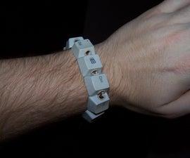 Wintereenmas ideas: Keyboard Bracelet