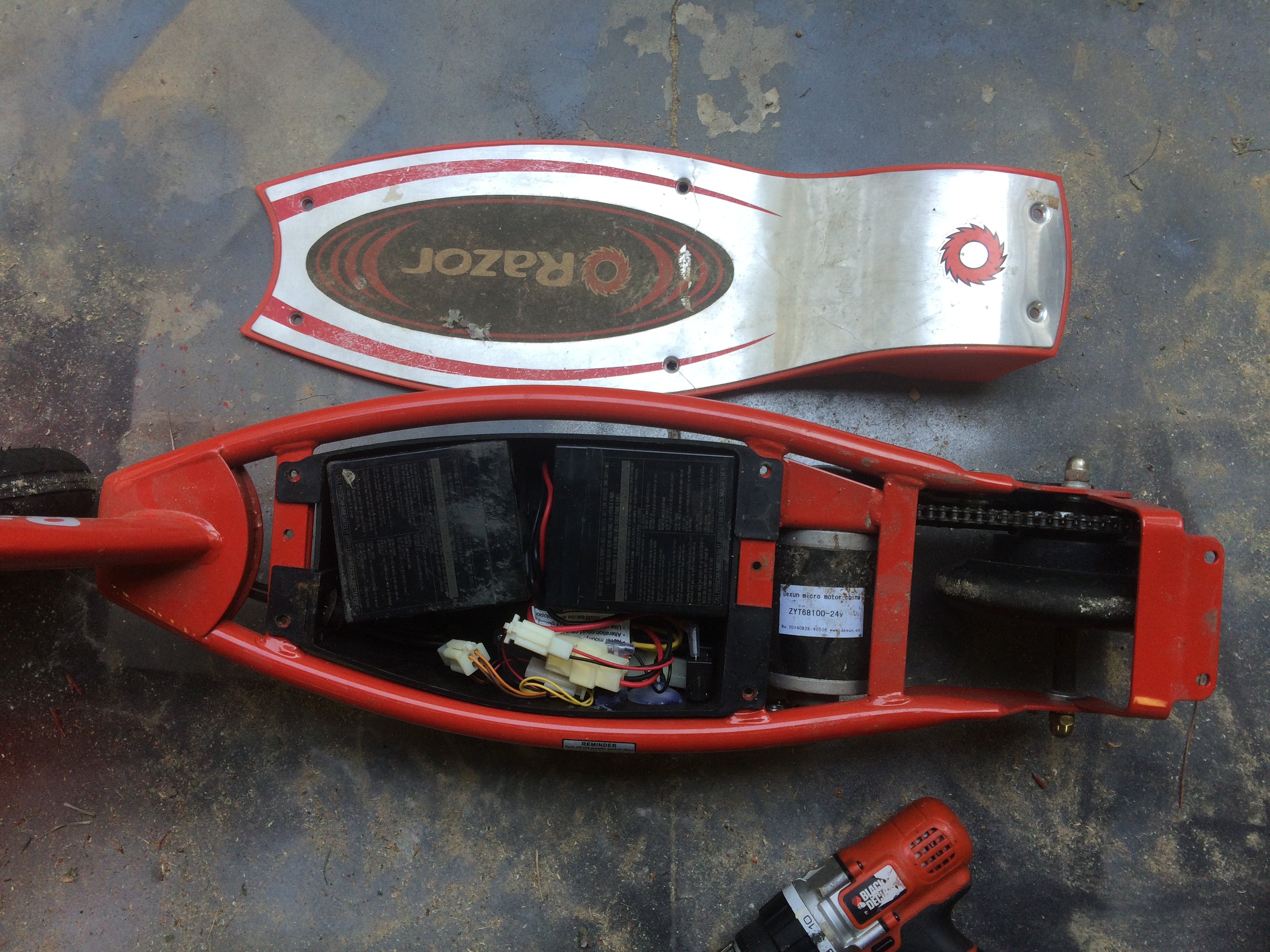 Picture of Disassembling the Scooter