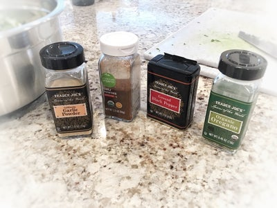 Spices, Worcestershire, and Bread Crumbs