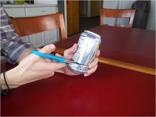Picture of Cut Bottom of Can of Can