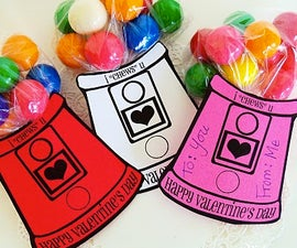 Gumball Machine Valentines (with free printable)