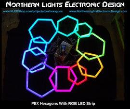 PEX Pipe Hexagons With RGB LED Strip