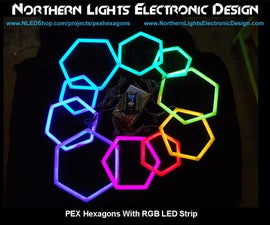 PEX Pipe Hexagons With RGB LED Strip