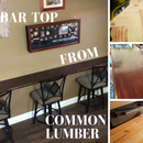 Bar-Top From Common Lumber