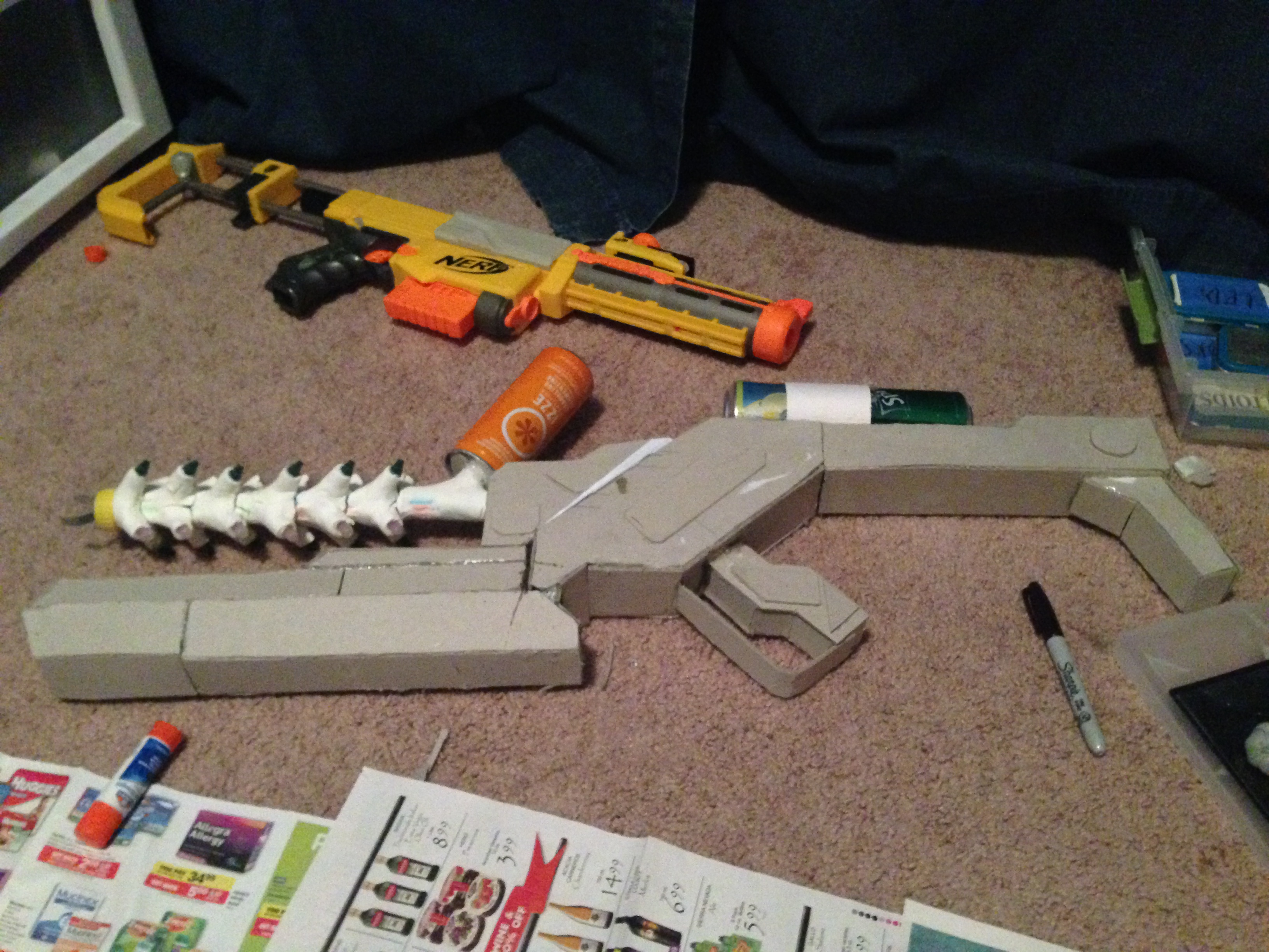 Picture of Combining Small Cardboard Boxes Into a Cardboard Plasma Gun