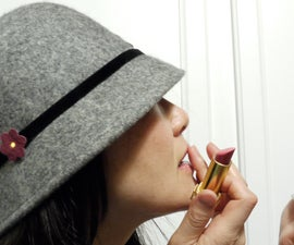 etextiles - Glam up a  felt cloche hat in under 10 minutes