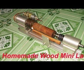 How to made Mini Wood Metal Lathe Very Easy