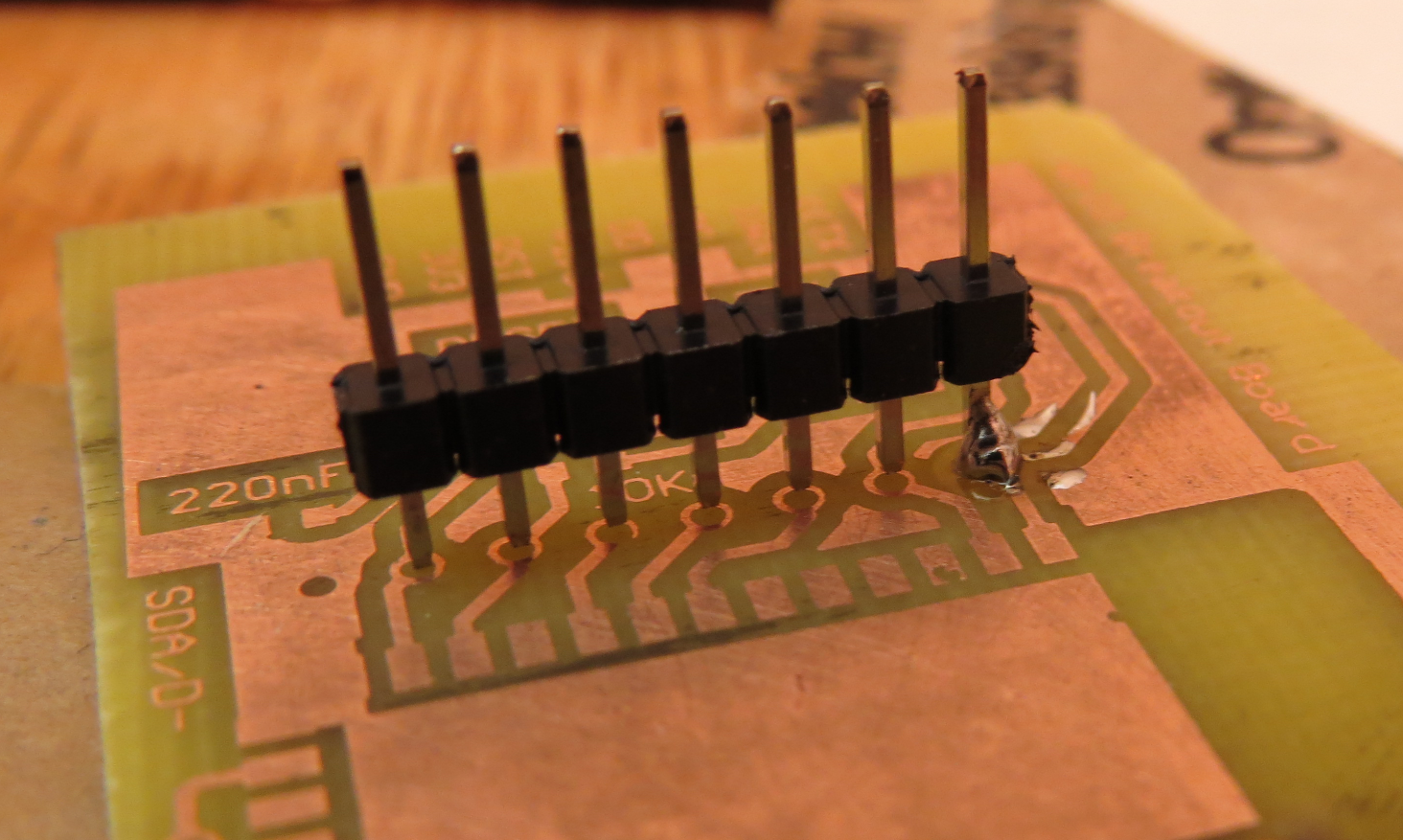 Picture of Solder the First Pin