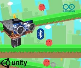Run Jump Game Using Unity, BT Arduino, Ultrasonic Sensor
