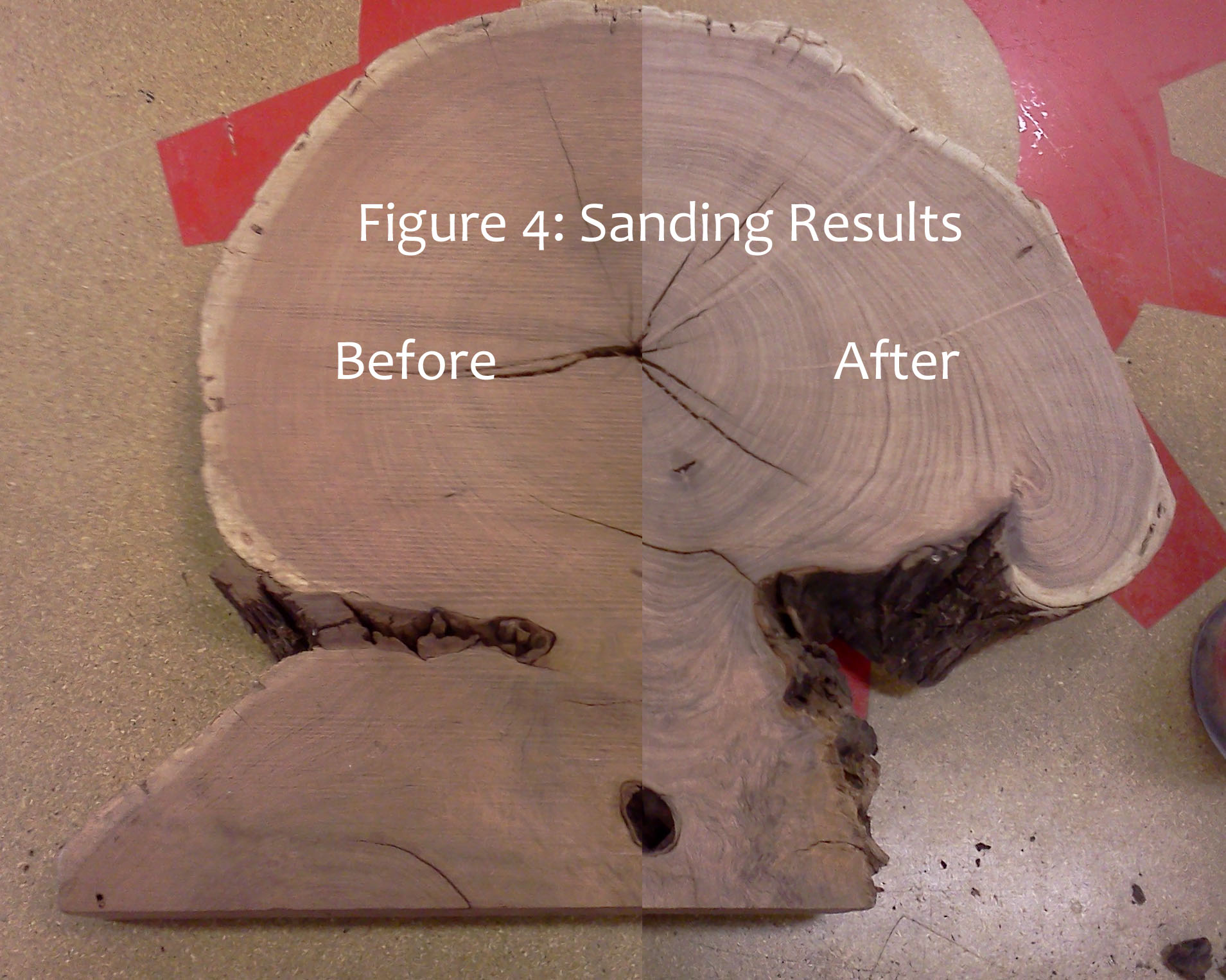 Picture of Sand the Wood in Preparation