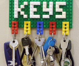 Lego Key Holder and Note Clip