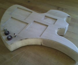 guitar body picture frame