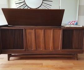 1960s Volumio Console Stereo Cabinet Restomod