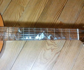 Aluminum handle inlay guitar DIY