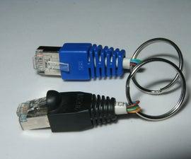 RJ-45 key chain and rack