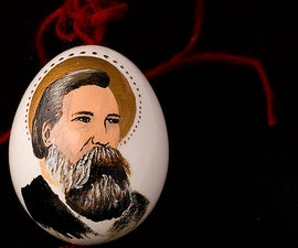 Christmas Ornaments made from blown eggs