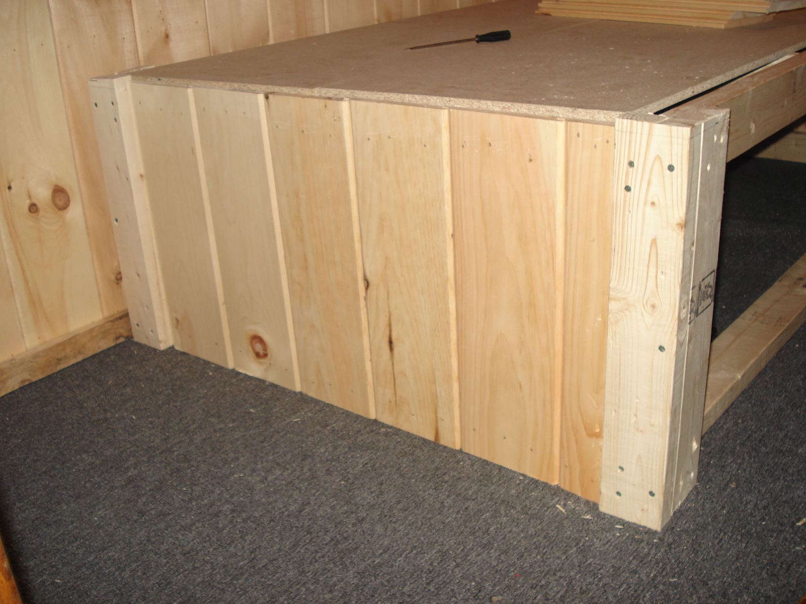 Picture of Raised Cabin Bed Frame With Hidden Space