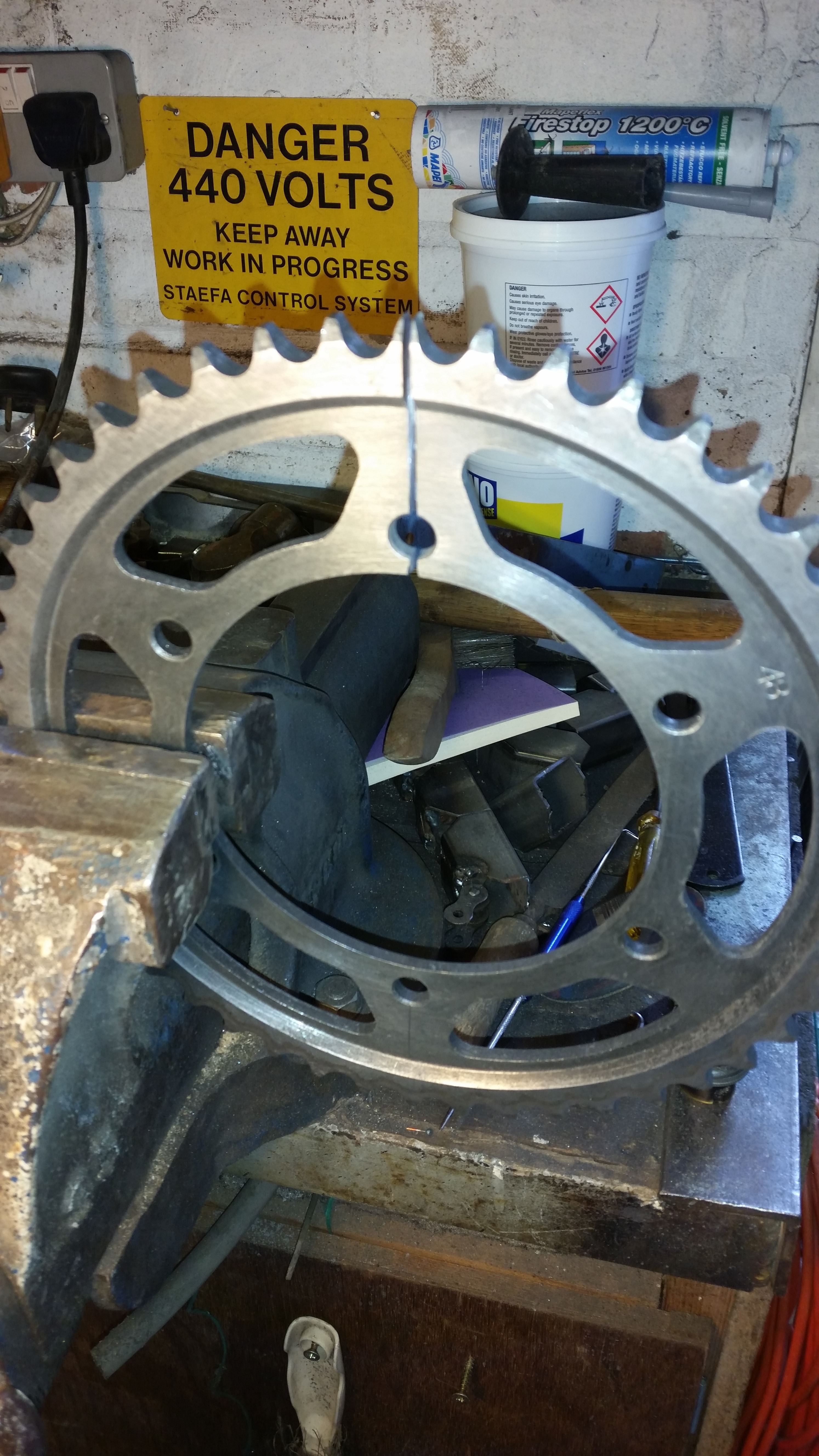 Picture of Making the Brackets - Preparing the Sprocket
