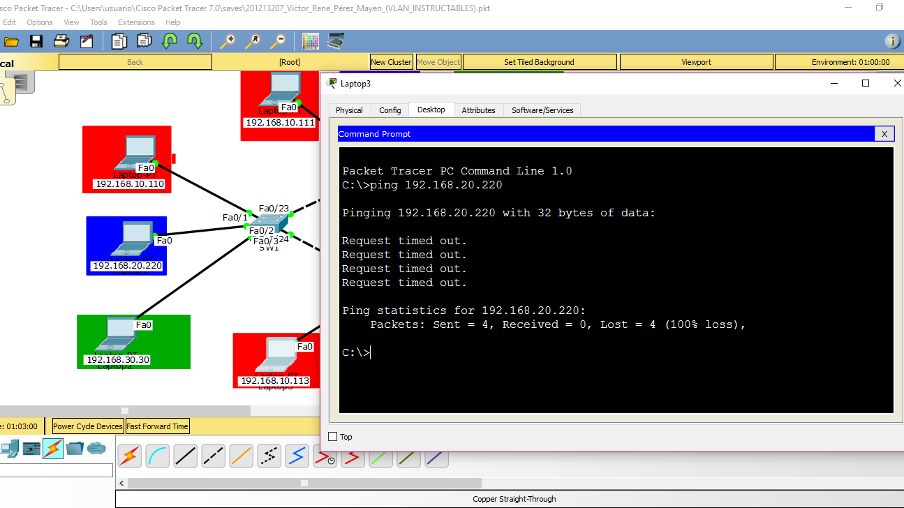 Picture of No Communication in Different Vlan