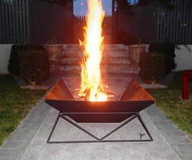 How to make a cool steel fire pit for your back yard or garden