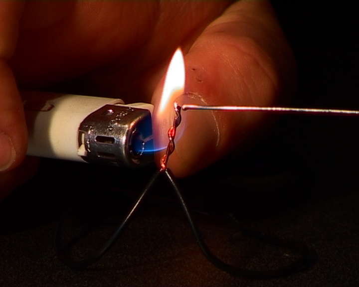 Picture of Soldering With a Lighter