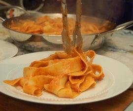 chorizo, mascarpone and tomato pasta sauce