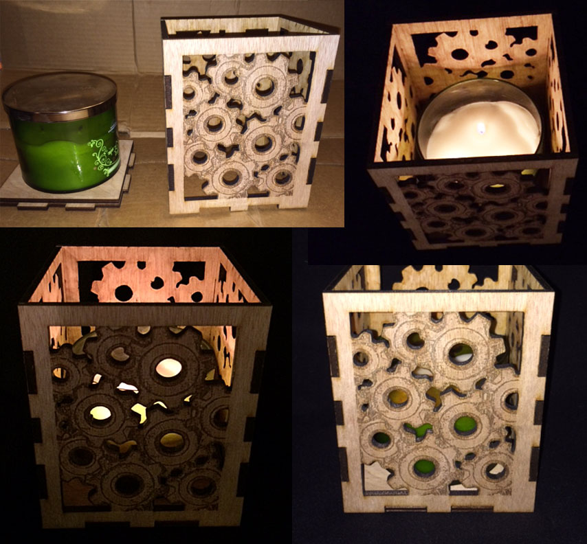 """Picture of Simple Candle Holder """"I Made It at TechShop"""""""