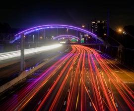 Light Trail on Highways