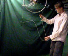 Kinetic Chain Sculpture Built from a Bicycle