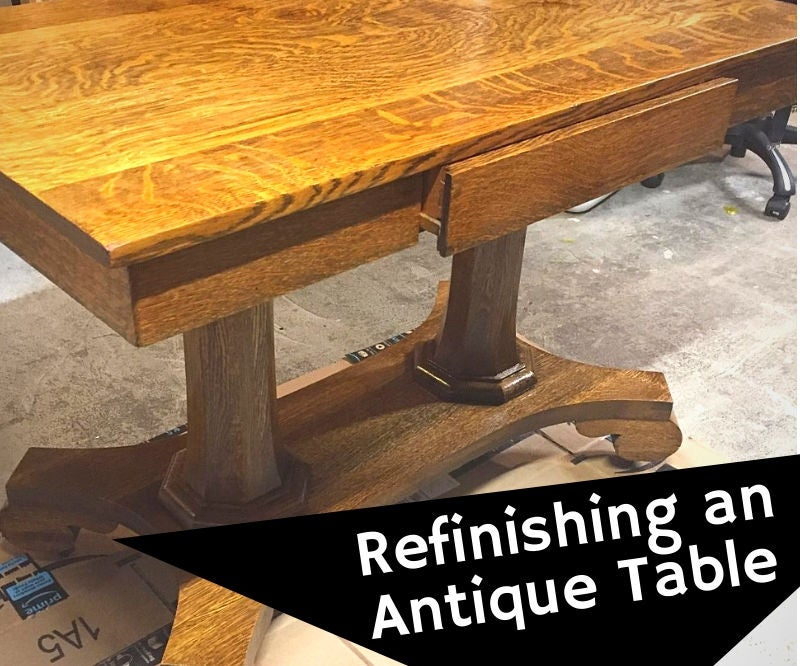 How To Refinish An Antique Oak Library Table 8 Steps With Pictures