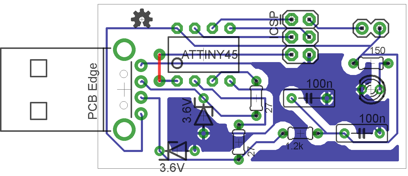 Picture of LITTLEWIRE (SINGLE SIDED PCB)