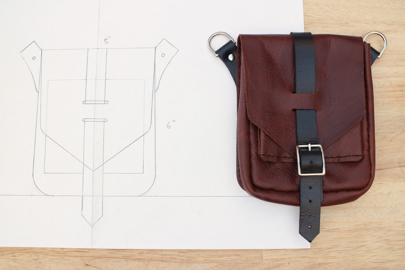 Designing a Simple Leather Bag
