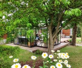 Garden Deck With Greenhouse