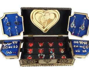Laser Cut Wooden Jewelry Box