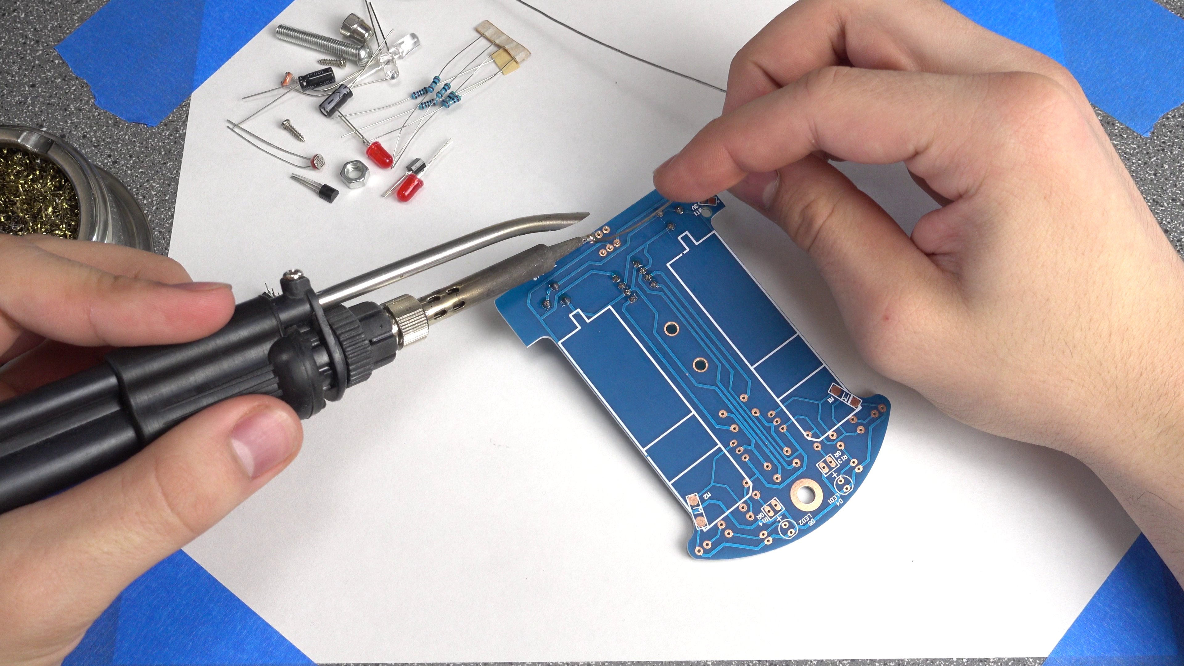 Picture of Soldering: IC Socket, Potentiometers