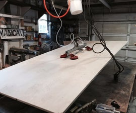How to make a vacuum powered plywood lifter for your workshop