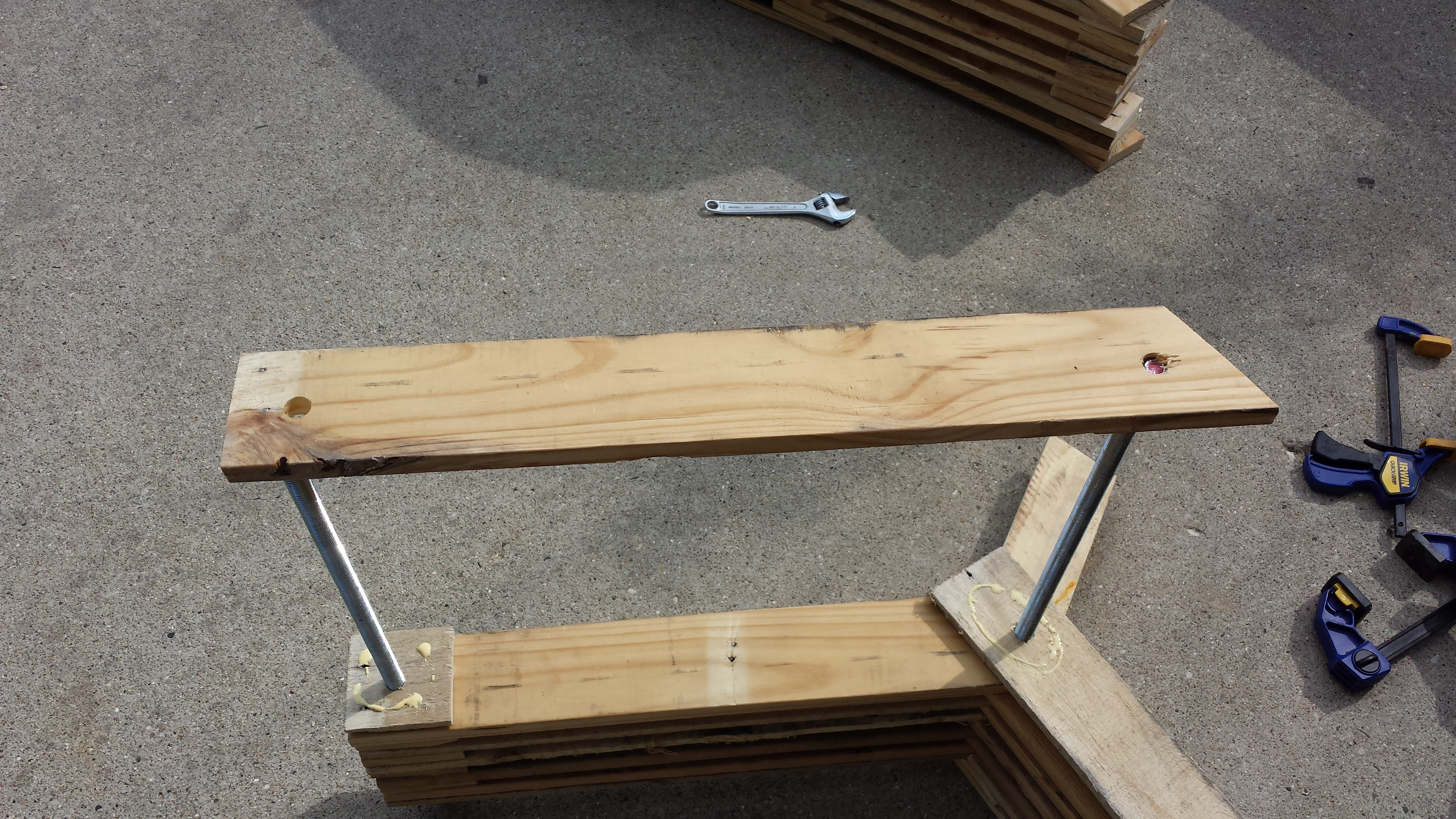 Picture of Dry Fitting and Gluing Seat and Back