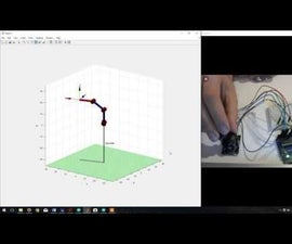 Control of a Simulated Robotic Arm in Matlab