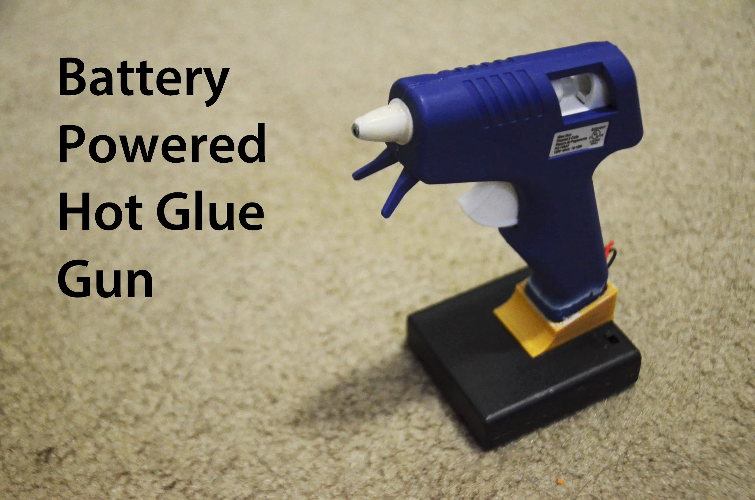 Picture of Corded to Battery Powered Hot Glue Gun