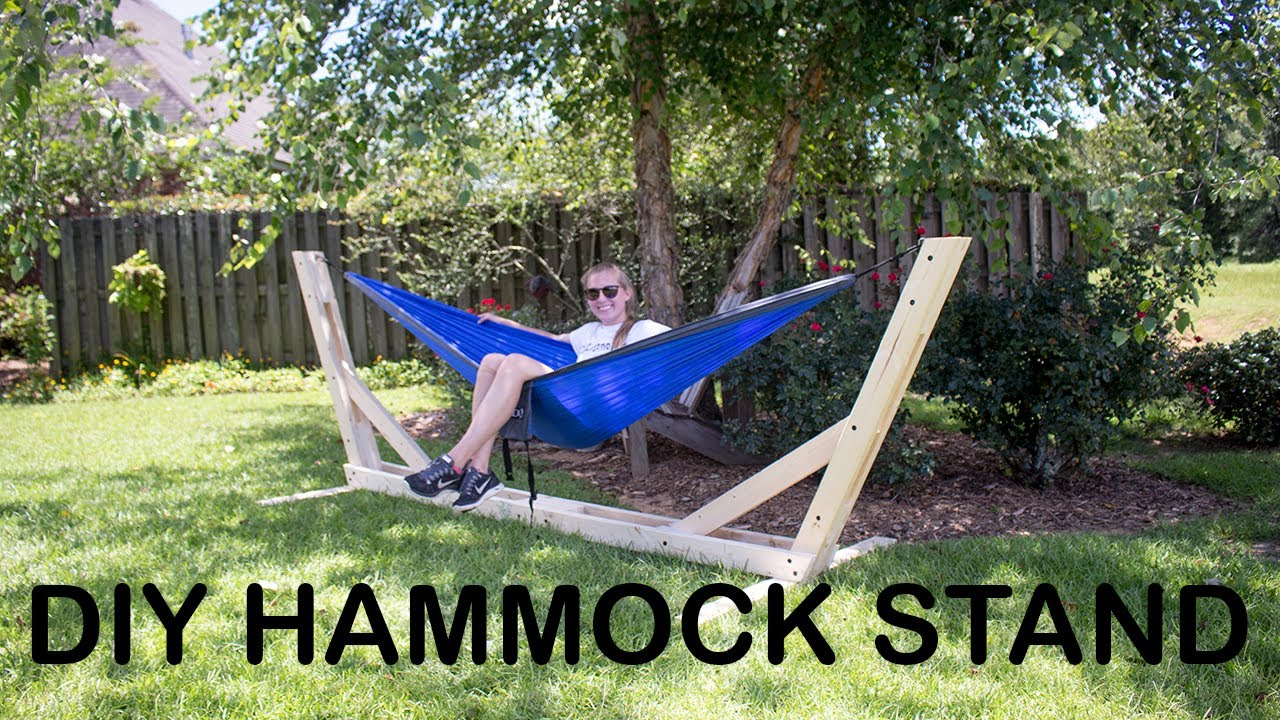 Picture of How to Build an Outdoor Hammock Stand $25