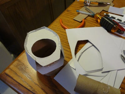 Making the Turret and Barrel.