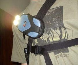 Rebel LED bike light for messenger bag